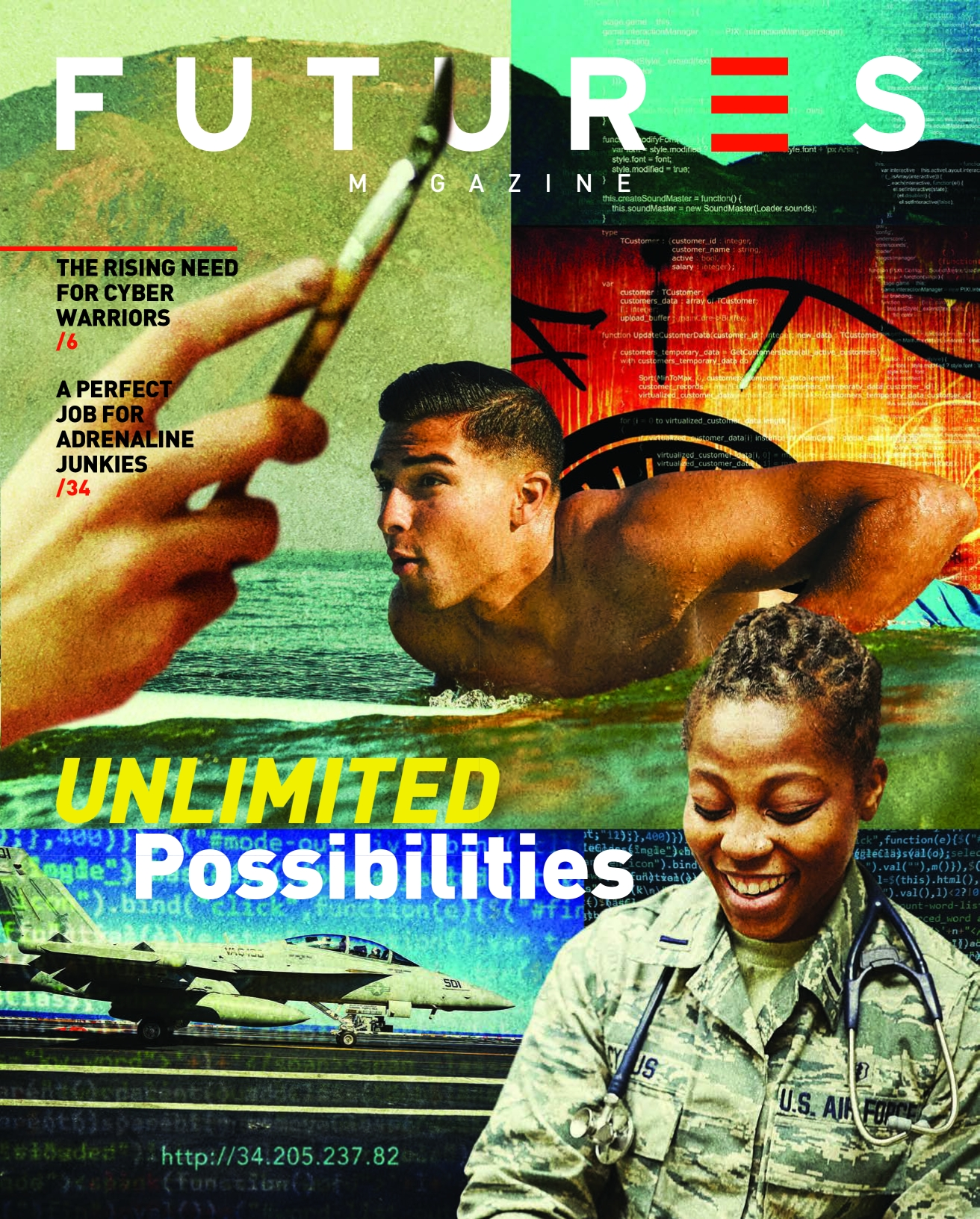 Department of Defense FUTURES annual magazine 2017 cover.