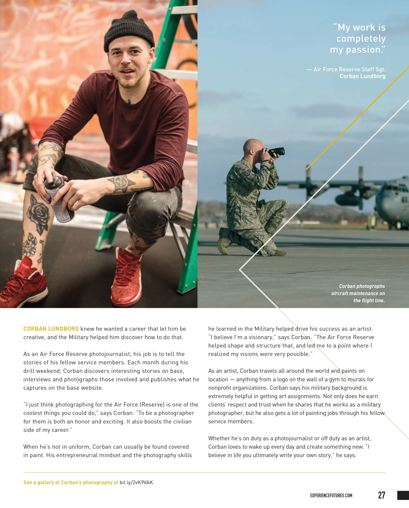 Department of Defense FUTURES annual magazine Corban Lundborg feature.