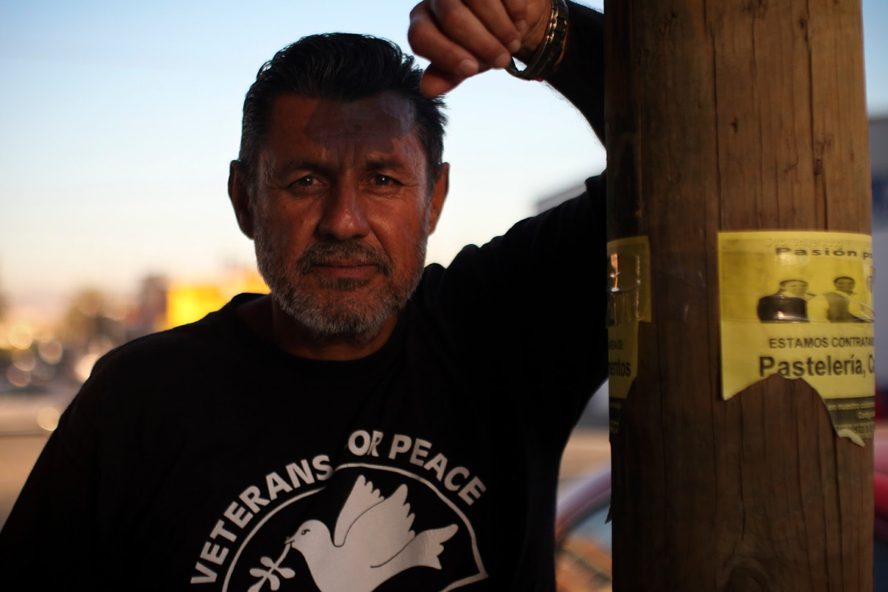 """Felix Peratla Jr. grew up in Boyle Heights, Los Angeles and served in the US Army in 1982-1983 and was medically honorably discharged. """"I never thought I would be deported until I was deported.. I don't think I have learned my lesson, I know I have learned my lesson, says Peratla."""