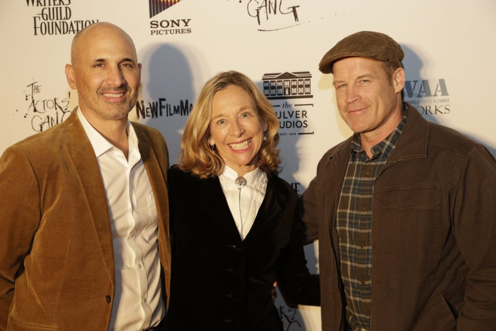 Carolyn Allport with Sam Ameen and Mark Valley after the reading of Sam's memoir VINYL.