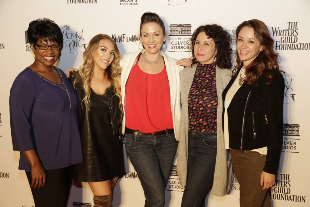 Melissa Ritz, SERVED writer and director with cast members Monique Edwards, Deborah Smith, Alyssa Roehrenbeck and Ashley Keene
