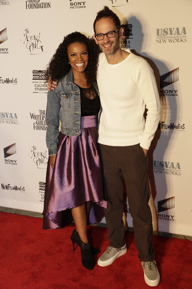 Nadège August with HEART ATTACK MAN director Sam Wolfson