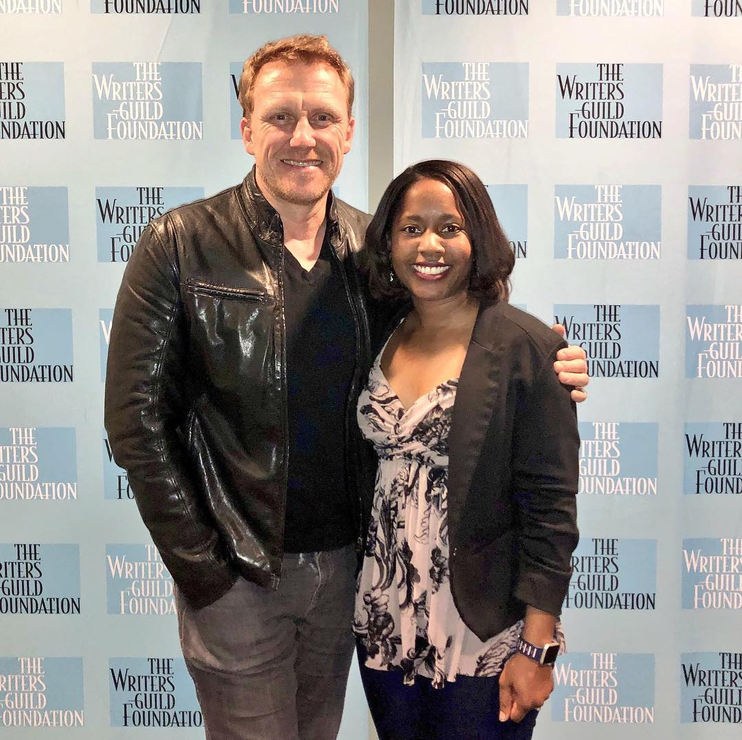 Jalysa Conway and Kevin McKidd at the Writers Guild Foundation